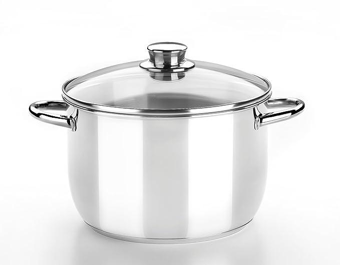 Monix Optima - Menaje 4 piezas de acero inoxidable 18/10, apta para todo tipo de cocinas incluídas de inducción: Amazon.es: Hogar