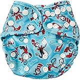 Bumkins Cloth Diaper Cover, Blue Cat