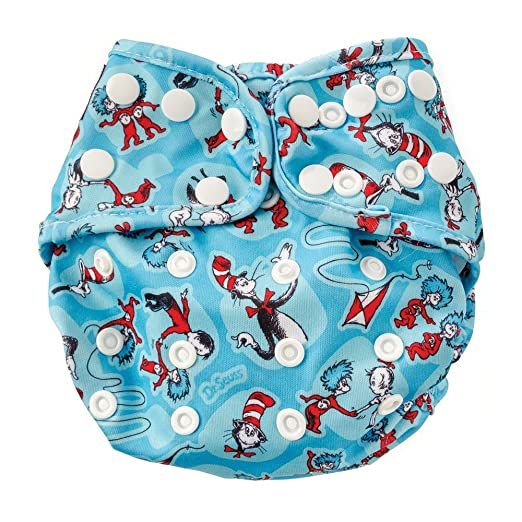 Image: Bumkins Cloth Diaper Cover | Soft, waterproof outer PUL fabric with TPU is stain and odor resistant | Machine washable, durable and comfortable