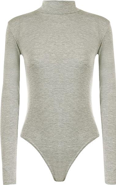 Nuevos Mujer, mangas largas llanura sin hombros camiseta malla body camiseta Bardot: Amazon.es: Ropa y accesorios