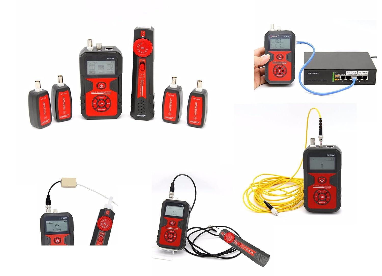 /Tracker//Tester professionale per cavi RJ45/RJ11/BNC/ Kalea-Informatique /©/ /mappe//codifica//test PoE//test polarit/à//VFL/ /Ricaricabile/ /con 4/satelliti