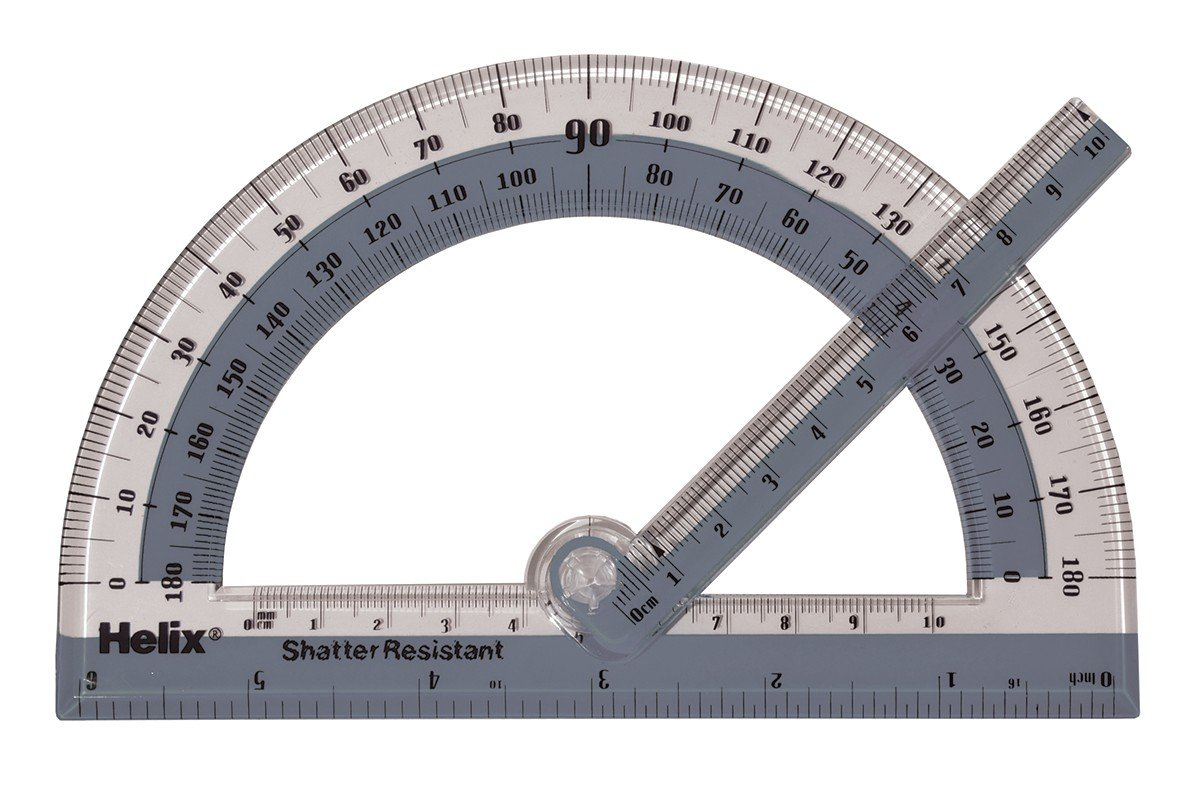 Helix 180° Shatter Resistant Swing Arm Protractor 6'' / 15cm (60009) by Maped Helix USA (Image #2)