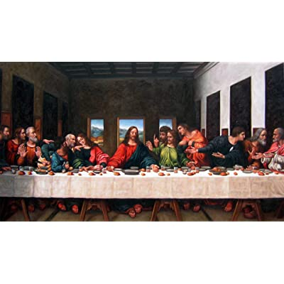 Jigsaw Puzzle 500 Piece Wooden Puzzle Da Vinci's Last Supper Family Decorations, Unique Birthday Present Suitable for Teenagers and Adults: Toys & Games