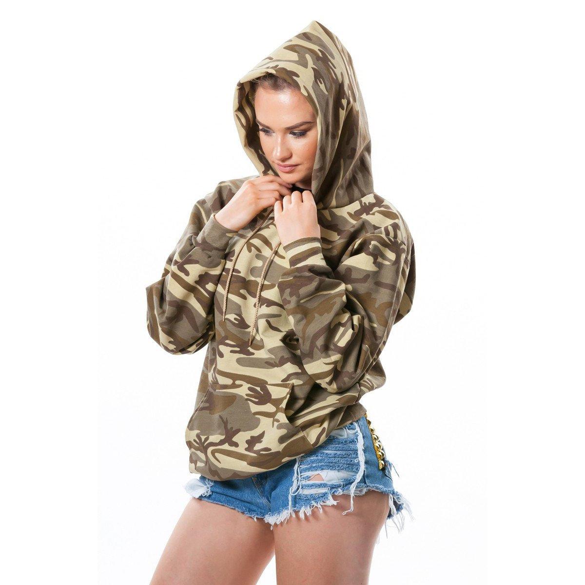 Langarm Milit/är Camo TarnungKapuze Kapuzenpullover Hoodie Thick Warm Sweatshirt T-Shirt Oberteil Top