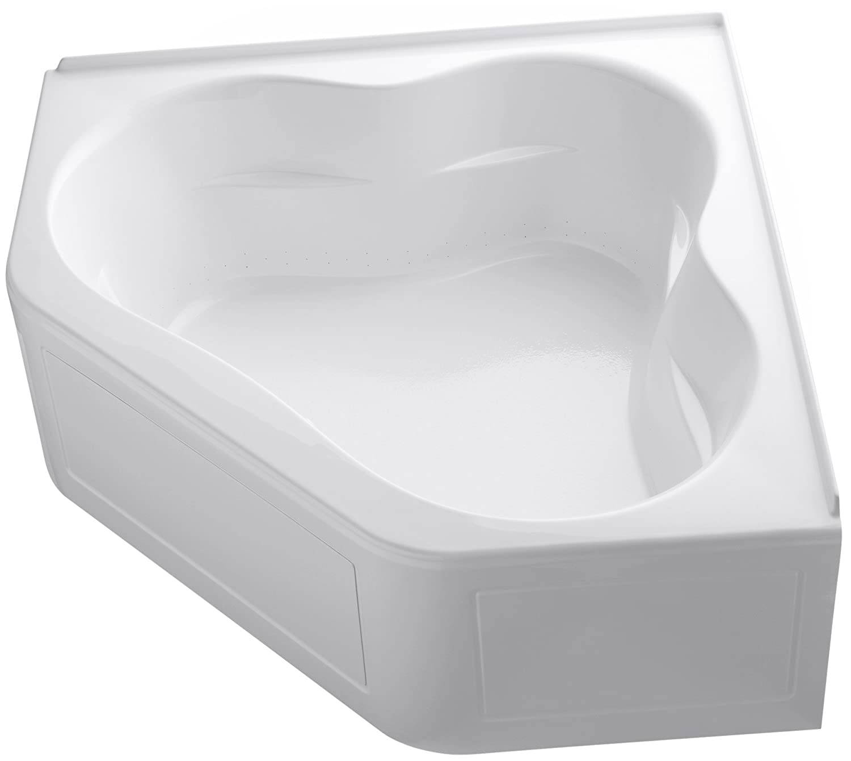 48 inch corner bathtub. KOHLER K 1160 GLA 0 Tercet BubbleMassage Corner Bath  White Drop In Bathtubs Amazon com