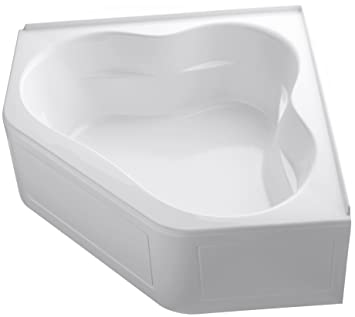 KOHLER K-1160-GLA-0 Tercet BubbleMassage Corner Bath, White - Drop ...