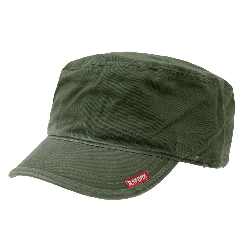 Amazon.com  Olive Green Flat Top Military Inspired Adjustable Patrol Cap  Baseball Hat  Clothing bad58857689