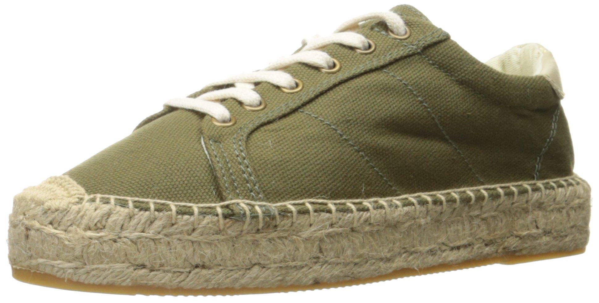 Soludos Women's Canvas Platform Tennis Sneaker Sandal, Camo Green, 9.5 B US