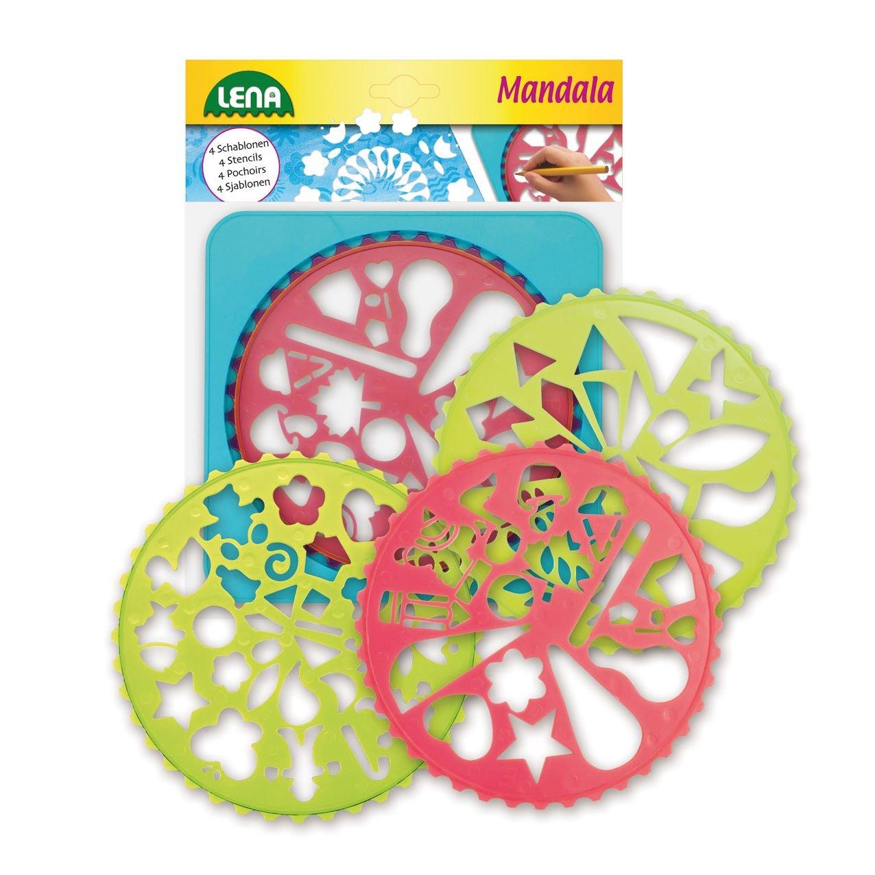 Lena 65775 - Malset Mandala Designer mit Rahmen und 4 Schablonen