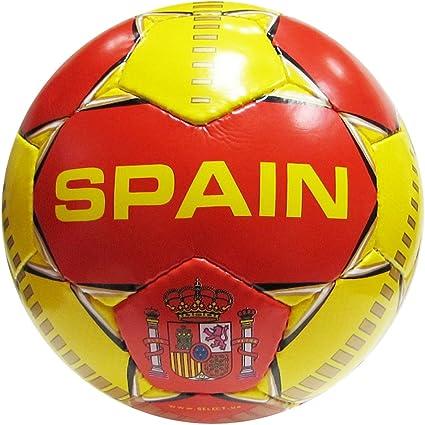 Seleccione España balón de fútbol, Rojo/Amarillo: Amazon.es ...