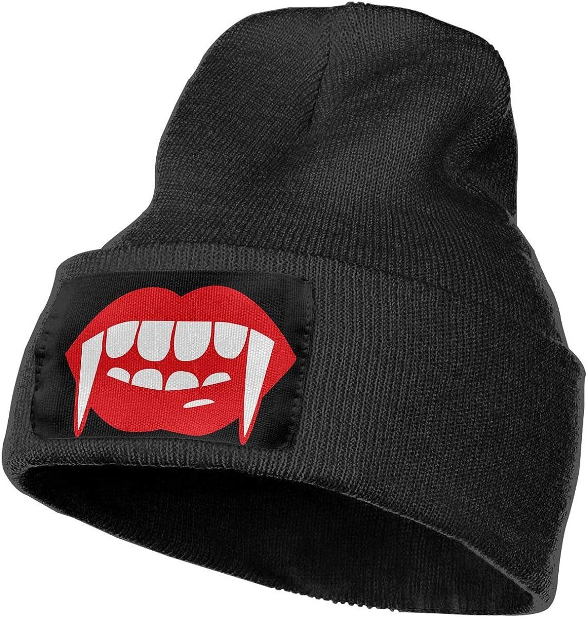 SLADDD1 Vampire Tooth Warm Winter Hat Knit Beanie Skull Cap Cuff Beanie Hat Winter Hats for Men /& Women