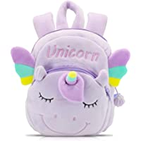 Unicorn Backpack for Girls - Kids Unicorn Backpack for Toddlers, Soft Plush Mini Unicorn Backpack for Daycare, Library…