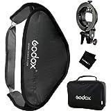 Godox 80x80cm Foldable Flash Softboxキット+スタジオ撮影用S型ブラケットボウネスマウントホルダー