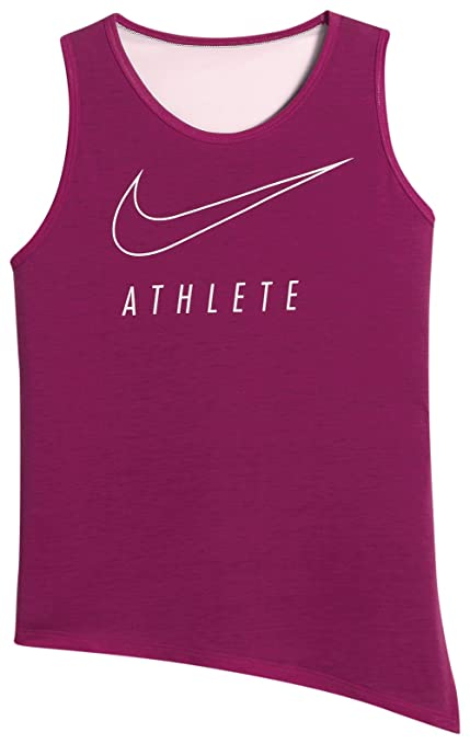 970fb193106 Image Unavailable. Image not available for. Color  Nike Girls  Breathe  Training Tank (Sports Fuchsia ...