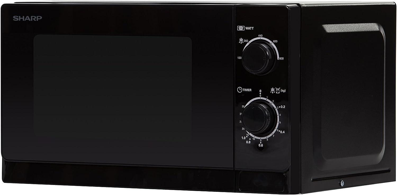 Sharp R-200BKW Horno microondas 800 W Negro 20 litros