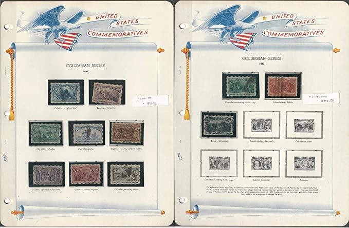 United States Stamp Collection in White Ace Album 1893-1939