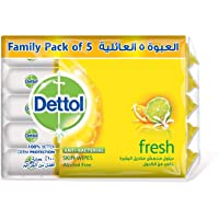 Dettol Fresh Anti-Bacterial Skin Wipes Family Pack – 50 Wipes