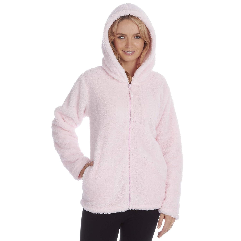 taglie S-XL Felpa da donna in pile con zip e cappuccio ideale per tutte le stagioni