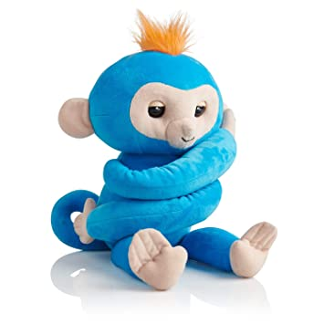 Wow Wee 3531 Fingerlings Hugs - Mono de Peluche Interactivo (Color Azul Claro)