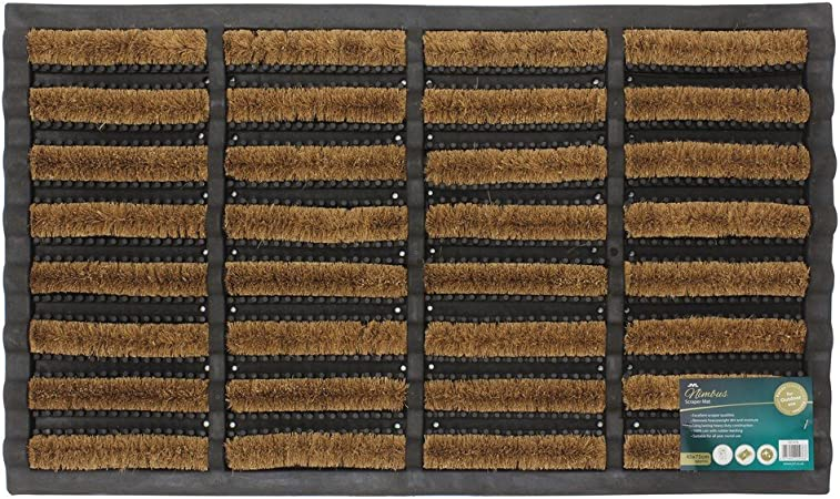 Jvl Heavy Duty Rubber Natural Coir Tuffscrape Door Mat 45 X 75 Cm Amazon Co Uk Kitchen Home