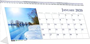 House of Doolittle 2020 Monthly Desktop Tent Calendar, 8.5 x 4.5 Inches, Scenic, Model:HOD3649-20