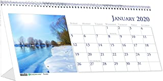 product image for House of Doolittle 2020 Monthly Desktop Tent Calendar, 8.5 x 4.5 Inches, Scenic, Model:HOD3649-20