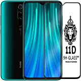 CELLUTION 11D Tempered Glass with Curved Edges and 9H Hardness Full Glue Edge to Edge Screen Protection for Xiaomi Mi Redmi Note 8 Pro - Black (LAUNCH OFFER)
