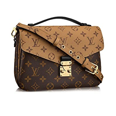 00b7ad502f88 Louis Vuitton Monogram Canvas Pochette Metis Cross Body Handbag  Article M41465  Handbags  Amazon.com