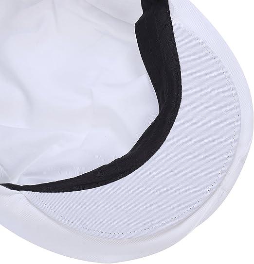 Algod/ón Blanco OUNONA Sombrero Chef Sombrero Cocineros Panaderos Sombrero Gorro Cocina Unisex