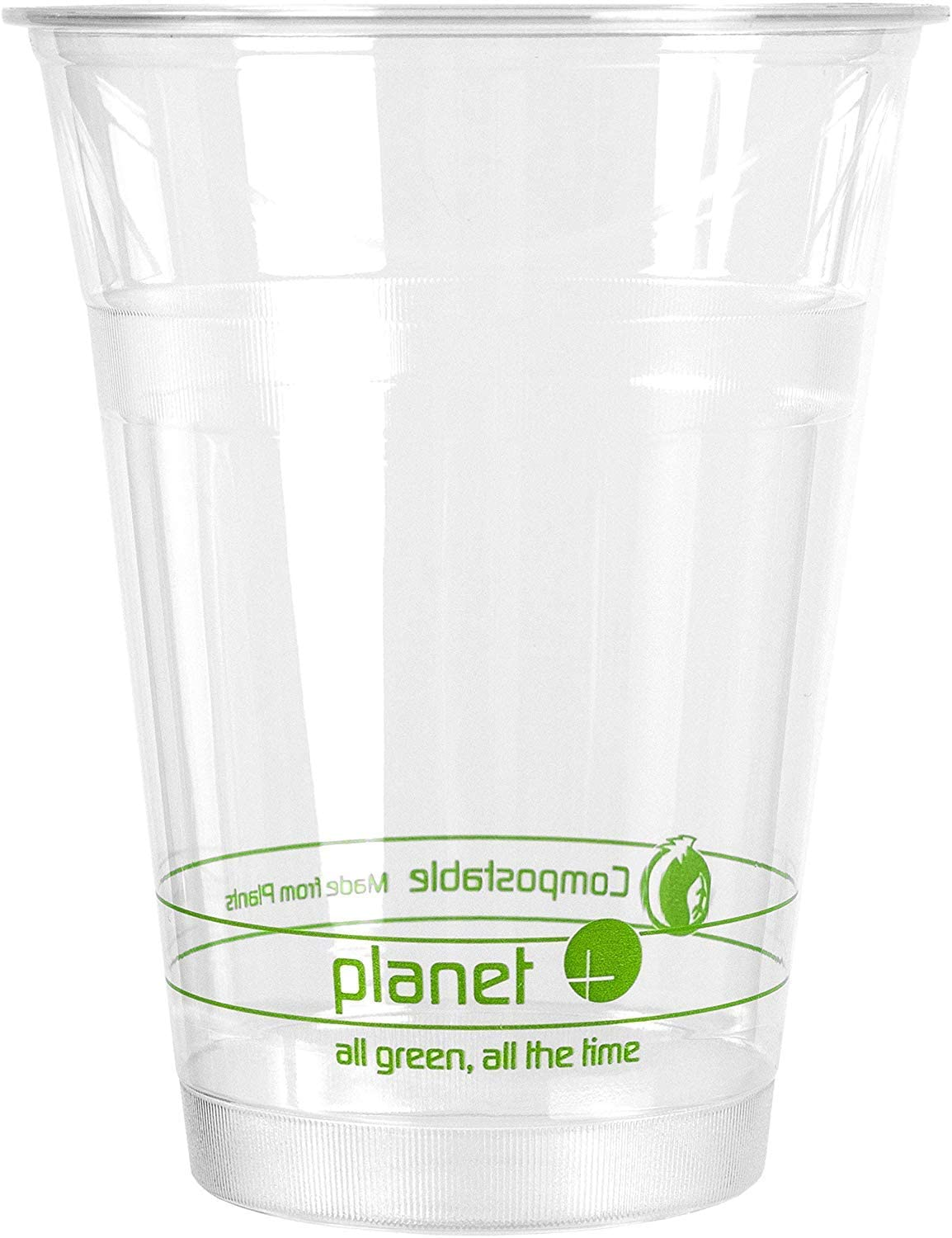 Planet + 100% Compostable PLA Clear Cold Cup, 16-Ounce, 1000-Count Case