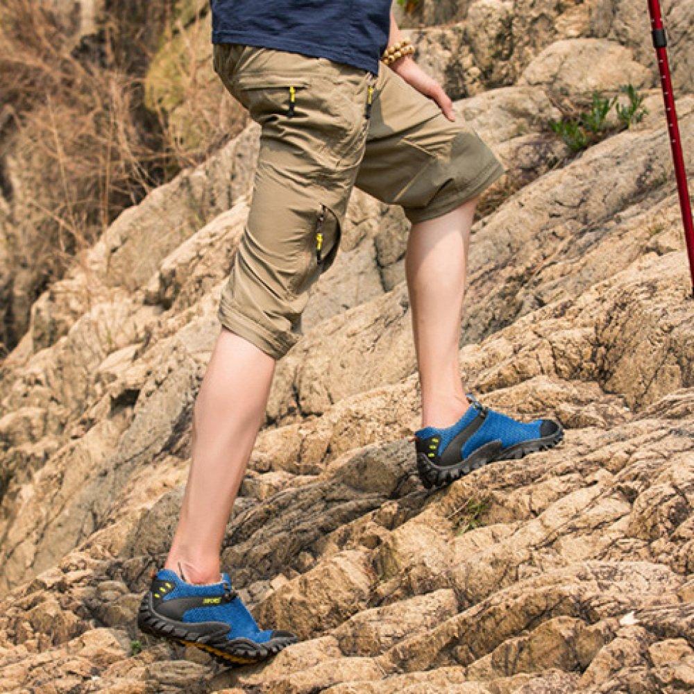 HGDR Männer Trekking Wanderschuhe Lace-up Mesh Atmungsaktive Wasser Wasser Wasser Schuhe Sommer Outdoor Sport Camping Klettern Rutschfeste Turnschuhe 30f498