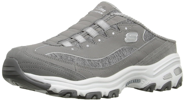 Skechers Sport D'lites Resbalón-en la zapatilla de deporte de la mula36 EU Gray/White