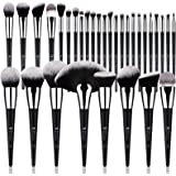 DUcare Makeup Brush Set 32Pcs Professional Makeup Brushes Premium Synthetic Kabuki Foundation Blending Brush Face Powder Blus