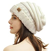 PAGE ONE Womens Winter Beanie Warm Cable Knit Hat Style Stretch Trendy Ribbed Chunky Cap