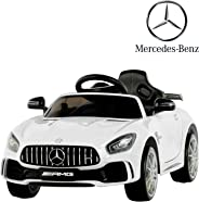 Uenjoy Electric Kids Ride On Car Mercedes Benz AMG GTR Motorized Vehicles with Remote Control, Battery Powered, LED Lights, W