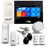 【OSI Wireless WiFi Smart Home Security DIY Alarm System - 8 Piece】 DIY Home Wi-Fi Alarm Kit with Motion Detector,Notification