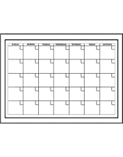 Wall Pops WPE94575 Peel and Stick White Board with Marker Monthly Calendar