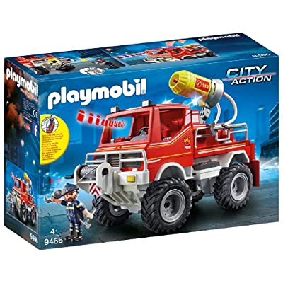PLAYMOBIL Fire Truck: Toys & Games