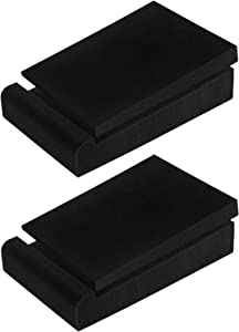 "JBER 2 Pack Acoustic Isolation Pads, Studio Monitor Speaker Isolation Foam Pads, High Density Acoustic Foam Suitable for 5"" Inch Speakers for Sound Improvement Prevent Vibrations"