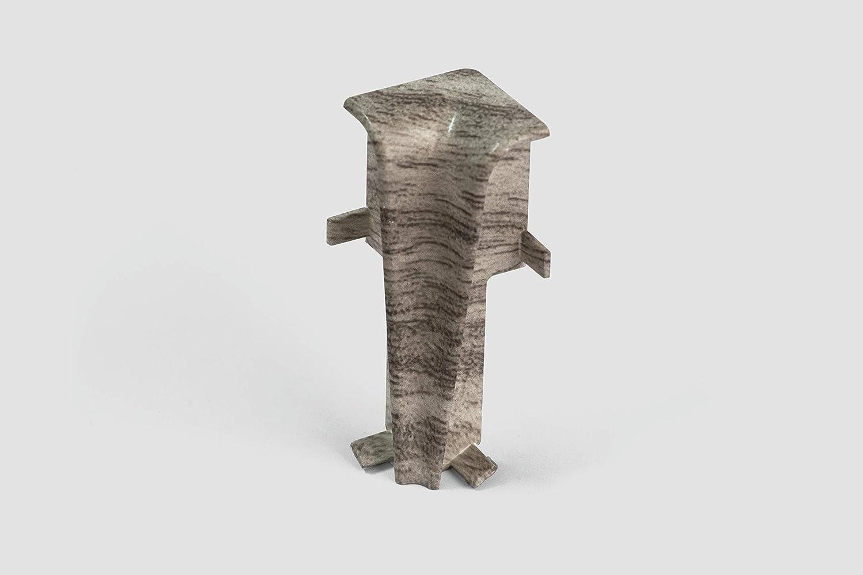 EGGER Innenecke Sockelleiste Eiche grau f/ür einfache Montage von 60mm Laminat Fu/ßleisten Holz Optik grau Kunststoff robust Inhalt 2 St/ück