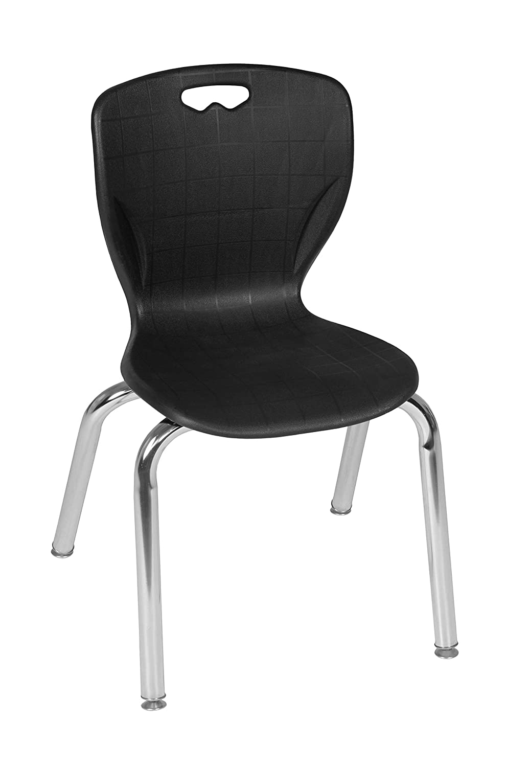 Regency Andy Collection Stacking Chair, 15 , Black