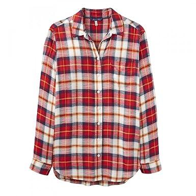 a2f5302a93d6c2 Joules Laurel Long Line Womens Shirt (X) Red Check UK12 EU40 US8:  Amazon.co.uk: Clothing