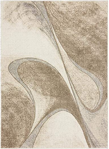 Luxe Weavers Tower Hill Abstract Beige 8×10 Area Rug