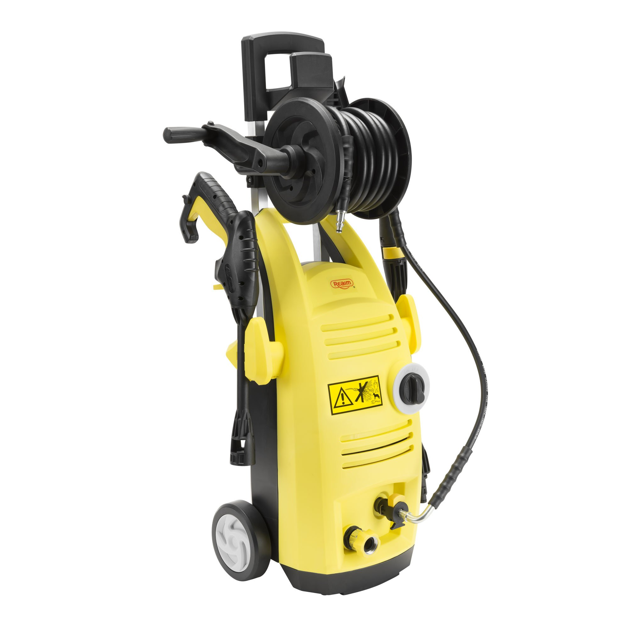 Realm BY01-VBS-WTR, Electric Pressure Washer with Hose Reel, 1500 PSI 1.60 GPM 13 Amp