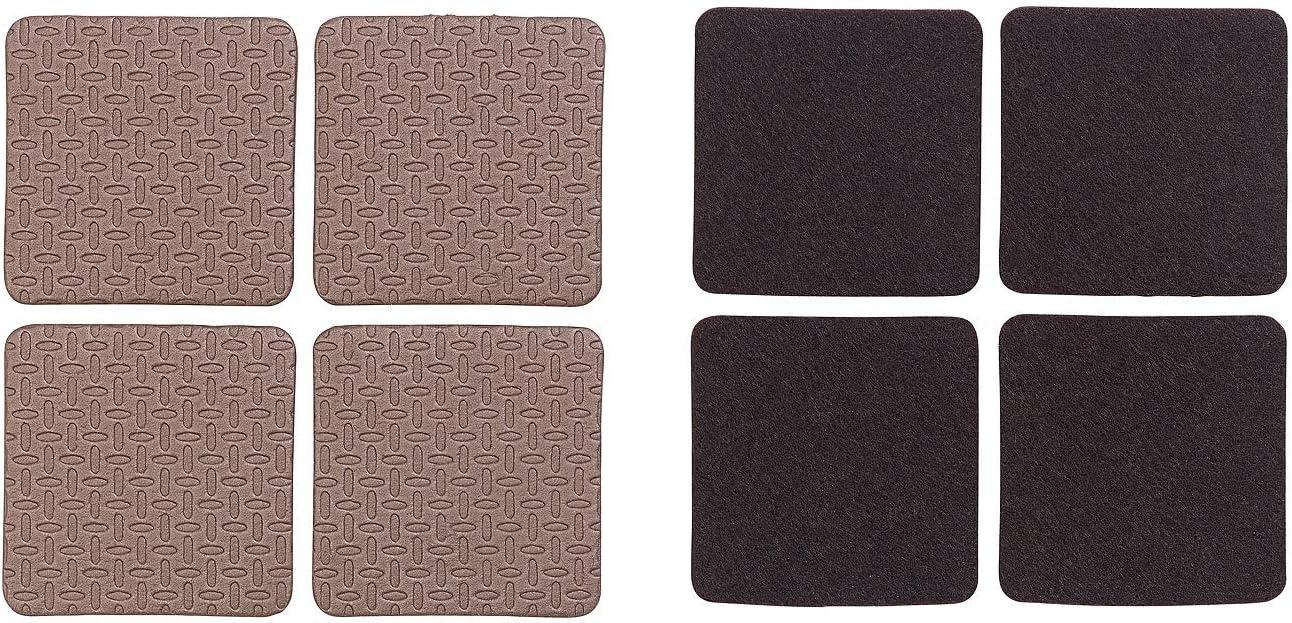 Kit de patins autocollants pour meubles coloris brun AGT x110