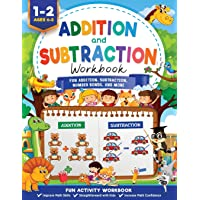 Addition and Subtraction Workbook: Math Workbook Grade 1   Fun Addition, Subtraction, Number Bonds, Fractions, Matching…