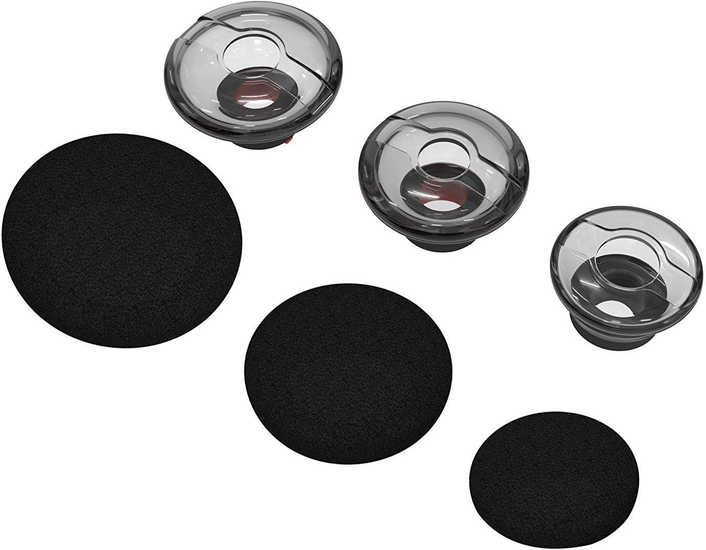 SML Lot de 3 Embouts Ultra Confortables avec Embouts en Mousse de Rechange pour Casque Bluetooth Plantronics Voyager 5200//5220//5210