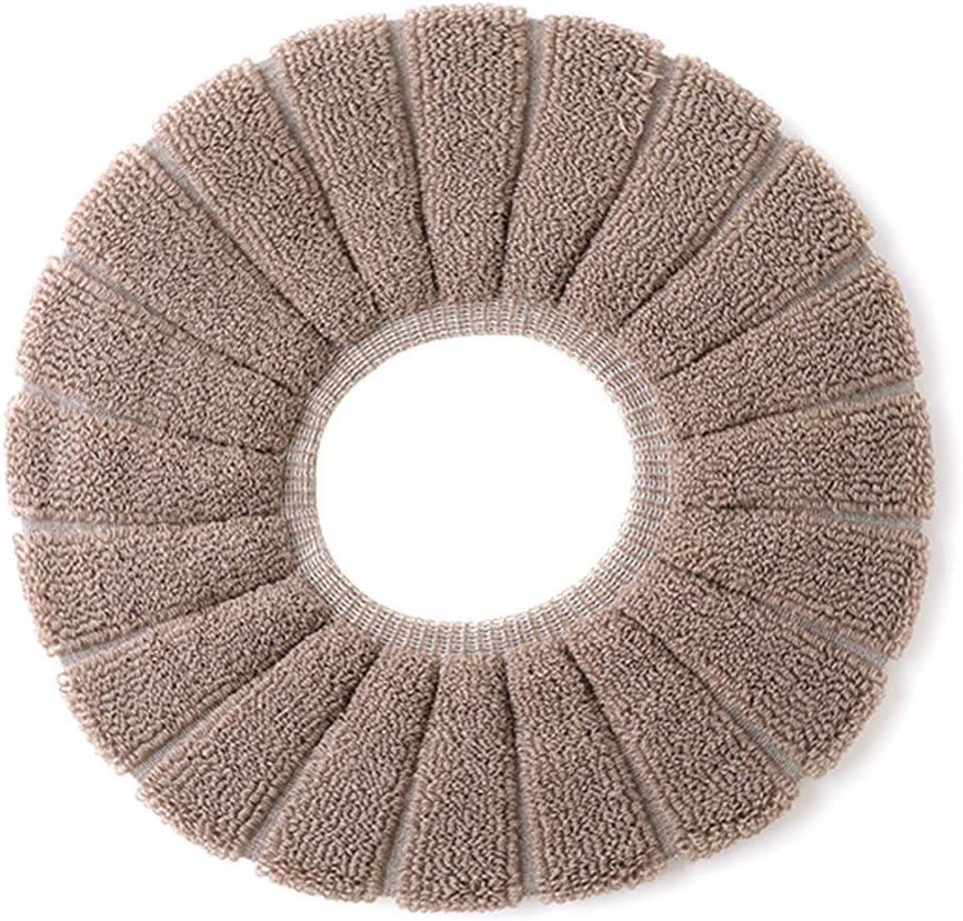 Couleur : Beige Couvre-si/èges de toilette-Couvre-coussins de coussin de toilette texture citrouille