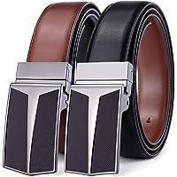 Men's Belt,Bulliant Leather Reversible Belt for Men, One Belt Reverse for Two Colors, Trim to Fit