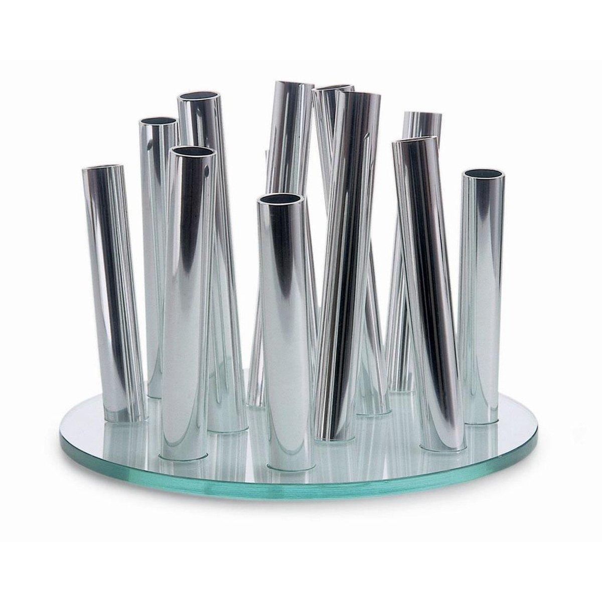 Philippi 123063 Bouquet Vase Glas und verchromtes verchromtes verchromtes Messing ø 24 cm d0bd0f